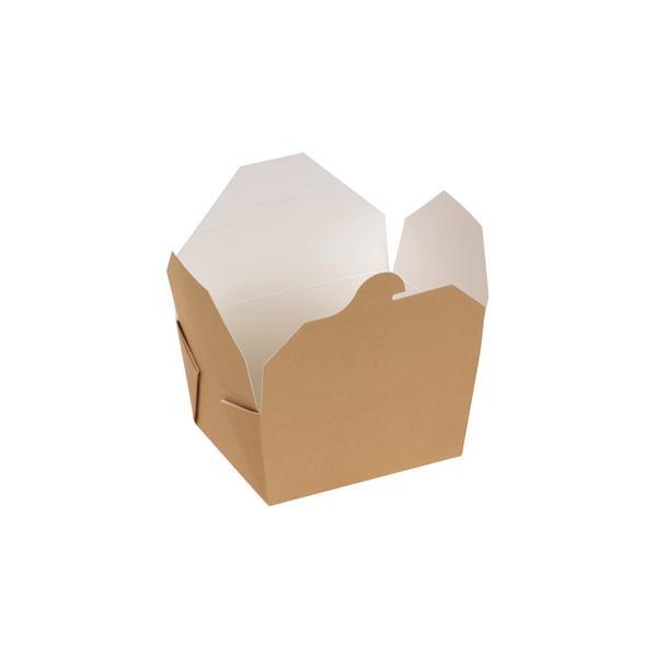 naturesse Take away Box mit PLA-Beschichtung braun/weiß 110x90x65mm 800ml FSC®