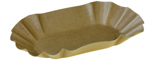 Tray Kraft, braun, 90x160x30 mm