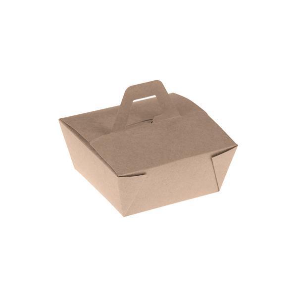 naturesse Bamboo Takeaway Box mit Henkel PLA 110x110x65mm