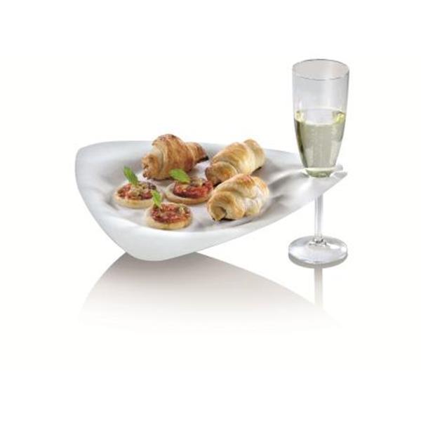 naturesse Zuckerrohr Trigon Teller mit Glashalter 26,8x25,7 cm