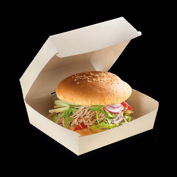 naturesse Bamboo Burgerbox PLA 120x110x80mm