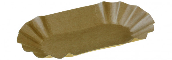 Tray Kraft, braun, 125x205x35 mm