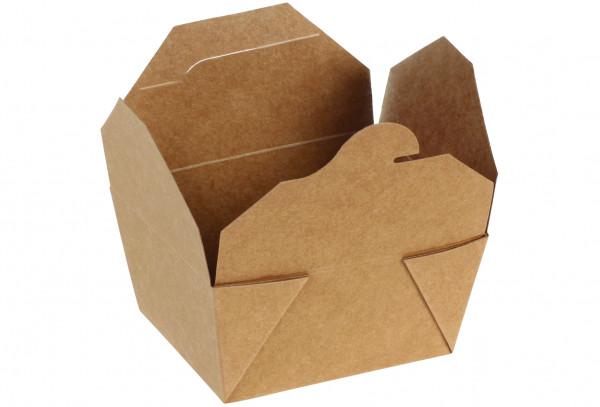 Take-away-Box Kraft/PLA, 148 x 107 x 72mm, naturesse