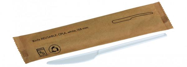 Messer REUSABLE CPLA, weiss 168mm, einzeln verpackt