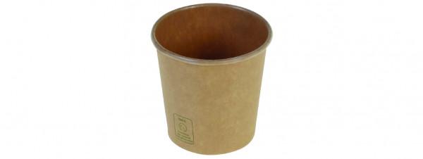 Kaffeebecher Kraft PLA unbleached, 1 dl, naturesse