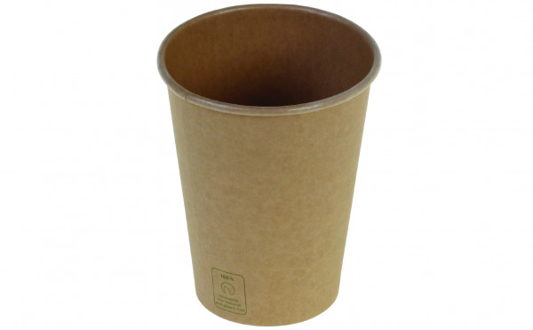 Kaffeebecher Kraft PLA unbleached, 3 dl, naturesse