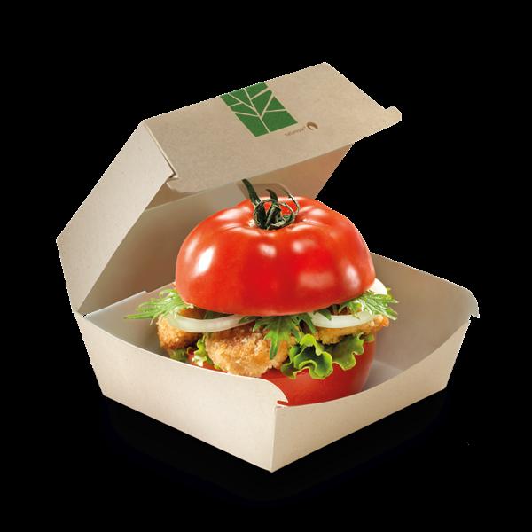 XXX naturesse PaperWise Burger-Box mit Klappdeckel 12x12x7cm