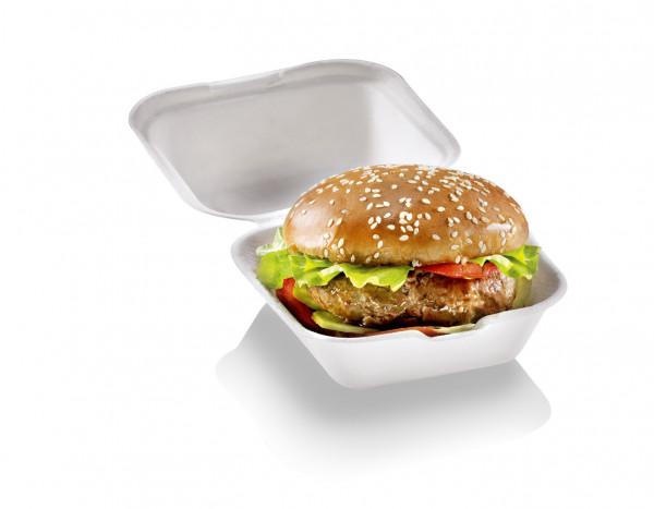 naturesse Zuckerrohr Burger Box sehr groß 15x15x8cm