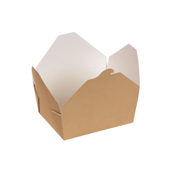 naturesse Take away Box mit PLA-Beschichtung braun/weiß 160x90x60mm 1000ml FSC®