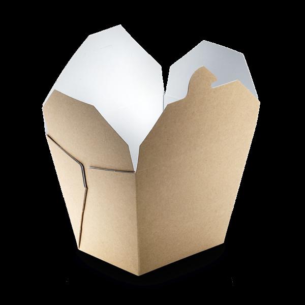 naturesse Take away Box mit PLA-Beschichtung braun/weiß 85x65x90mm 700ml FSC®