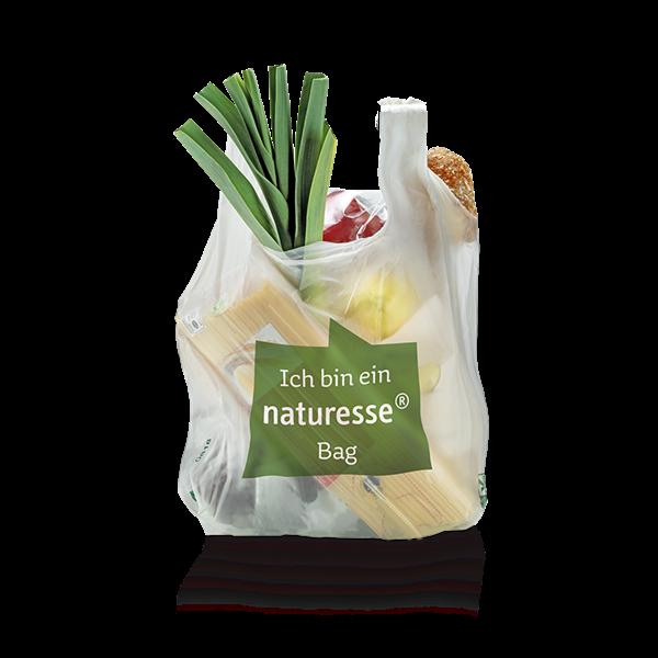 "naturesse Hemdchentragetasche MaterBi ""L"" 30+18x60cm 26my ""naturesse bag"""