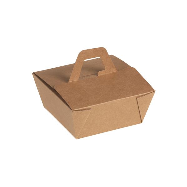 naturesse Take away Box mit Henkel Kraft/PLA 150x150x65mm ca. 900ml
