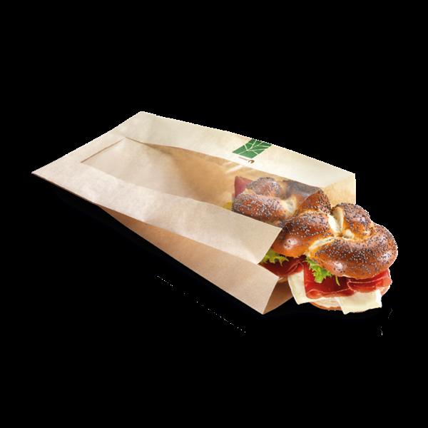 naturesse PaperWise Sandwichbeutel mit PLA-Fenster 37x16x2x4cm