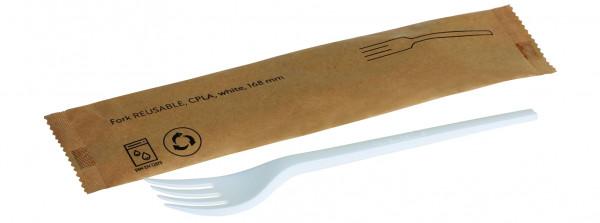 Gabel REUSABLE CPLA, weiß 168mm, einzeln verpackt