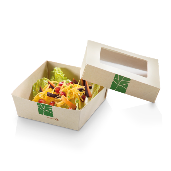 XXX naturesse PaperWise Salat-Box 750ml, 15,5x15,5x5cm