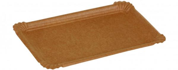 Kartonteller Kraft braun, 110x170mm, naturesse