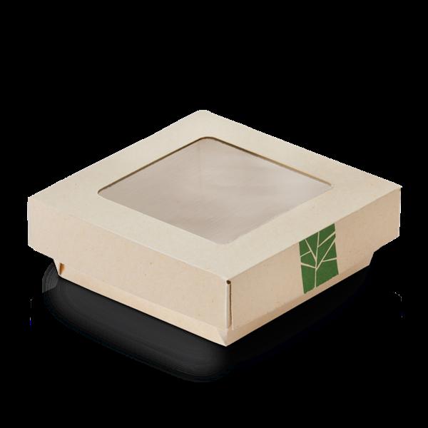 XXX naturesse PaperWise Deckel zur Salat-Box mit PLA-Fenster für Art. 15660