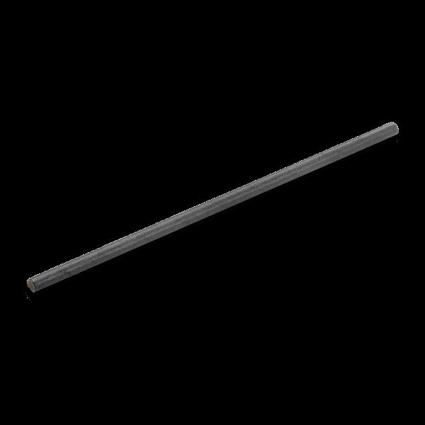 naturesse Papier Trinkhalm 6x230mm schwarz