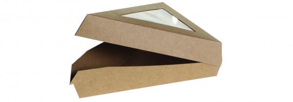 Klapppackung Kraft/PLA, mit Fenster, 167x129x45mm