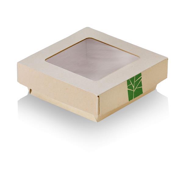 XXX naturesse PaperWise Deckel zur Salat-Box mit PLA-Fenster für Art. 15664