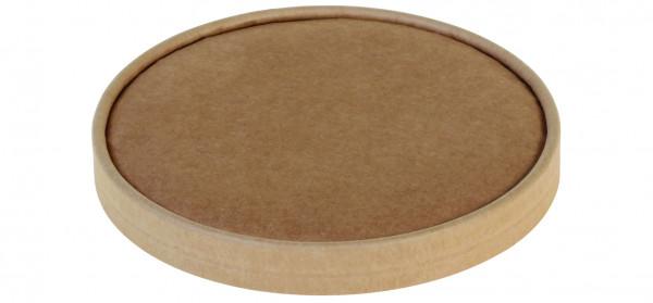 Deckel aus Karton Kraft braun Ø150mm zu 17011/17012