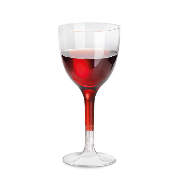 naturesse PLA Weinglas klar 1dl, Ø7,0cm, 11x3cm, 2-teilig
