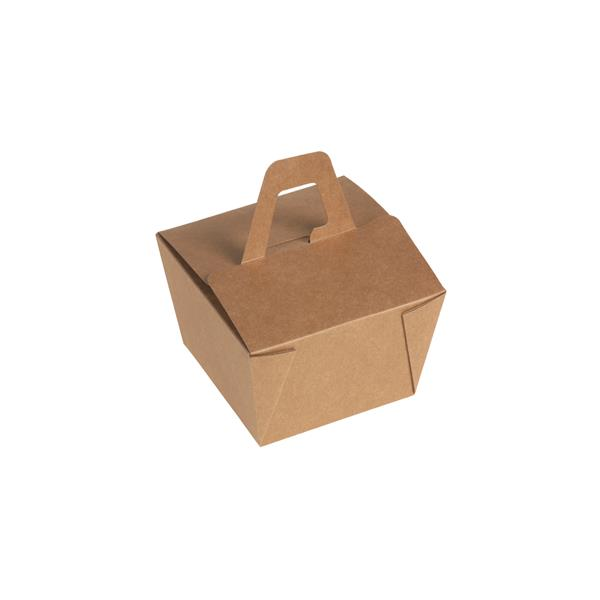 naturesse Take away Box mit Henkel Kraft/PLA 110x110x65mm ca. 500ml